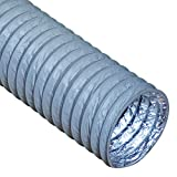 Rubber-Cal'HVAC Ventilation-Flex' Duct - 12 in. ID x 25 ft. Length, Grey -01-225-12