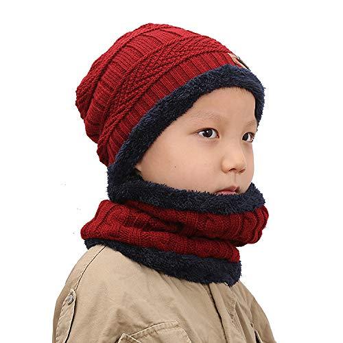 Xme Herren-Wollstrickmütze für Herbst und Winter, Damenpullover Plus Zweiteiliger Samtanzug, Lätzchen mit Ohrenschützer-Verdickung