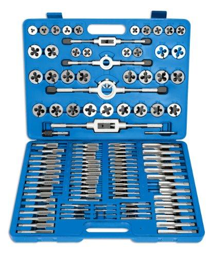 Laser 4554 - Juego de terrajas y machos de roscar (110 piezas)
