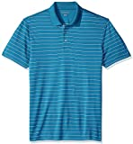 Amazon Essentials Men's Slim-Fit Quick-Dry Golf Polo Shirt, Dark Teal Stripe, X-Small