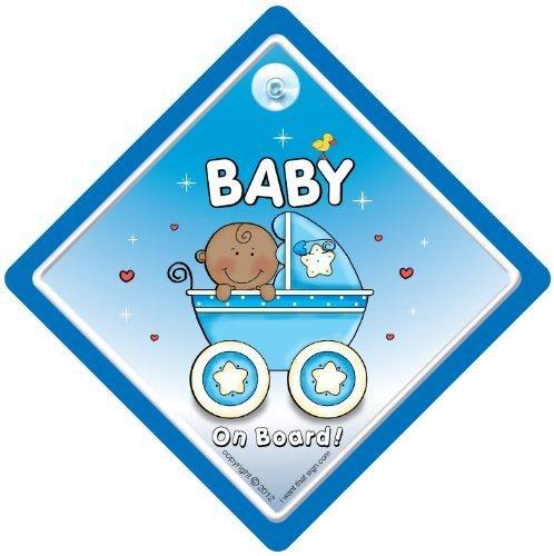 Baby On Board, panneau bébéà bord Voiture Noir, petit-enfant à bord, panneau pour voiture, bleu noir poussette bébé, baby on board Sign, Baby on Board, panneau bébé, signe pour voiture, pare-chocs Sticker, autocollant, panneau de douche, nouveau bébé, baby