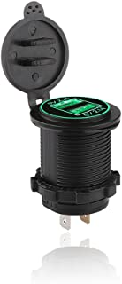 ONEVER Bil USB-laddare 5 V 2,1 A LED spänningsmätare panel telefon surfplatta laddare uttag för bil lastbil ATV båt motorc...