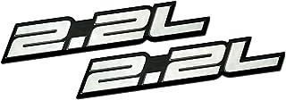 日本市場で強力 2 x(ペア/セット)2.2Lリッターエンボスシルバー(ブラックダッジデイトナIROCシェルビーランサーCSX)..