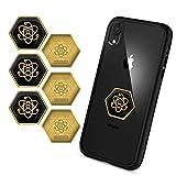 New! Mix Pack 3 pcs 24K Gold 5G&Wi-Fi + 3 pcs Shungite EMF Protection Cell Phone Stickers - Anti-Radiation Stickers for Phone - Radiation Protection Shilds - EMF&5G Blocker+Neutralizer - All Devices!