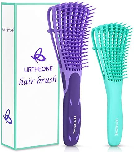 Detangling Hair Brush Detangling brush for Adults and Kids Comb Set for Kinky Curly Coily and product image
