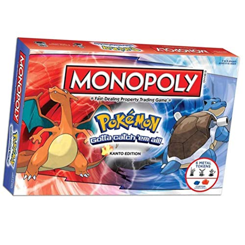 MXGP Monopoly Pokemon Juego de Mesa Juguetes Monopoly Pokémon Multiplayer Fun Party Card Games Family Deck Card Games Juegos de Estrategia para Mayores de 8 años (Edición en inglés)