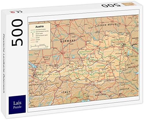 Lais puzzel Fysieke kaart van Oostenrijk 500 stuks