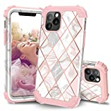iPhone 11 Pro Max Case for Women, ZHK Mandala 3 Layer Heavy Duty Shockproof Case Full-Body Armor Stylish Anti-Scratch Protective Cover for iPhone 11 Pro Max(6.5 inch, 2019)-Rose Gold