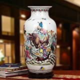 HongLianRiven Muebles Excelente Porcelana Jingdezhen Cerámica Capitales Estilos clásico Chino Antiguo Encanto artístico de cerámica jarrones de Porcelana en Colores Pastel 12-16