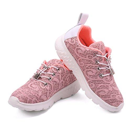 gracosy Blinkt Sport Sneaker Damen Leuchten USB Lade Laufen Wanderschuhe mit Snake-Effekt Sport Outdoor rutschfeste Trekking & Wandern Schuhe Gym Gesundheit Ausbildung Fitness Schuhe