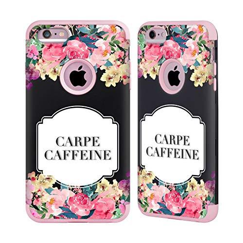 Head Case Designs Oficial Monika Strigel Cafeína Carpe Flores Y Citas Caso Guardian Compatible con Apple iPhone 6 Plus/iPhone 6s Plus