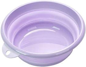LJBH Folding Washbasin, Children's Outdoor Travel Washbasin, Portable Travel Compression Basin, Laundry Tub, Purple Trumpe...