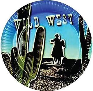 PARTYRama Wild Western Tema 23cm Papel Plato–Pack de 6