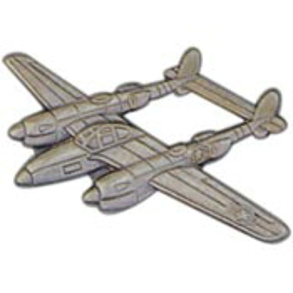 EagleEmblems P16027 Pin-APL,P-38 Lightning (Pwt) (2-3/8'')