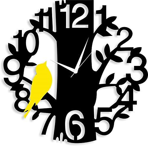 vanshika creations Black Wooden Analog Wall Clocks Size 30cm*30cm*5cm