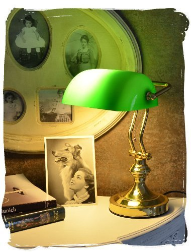 Bibliothekslampe/Schreibtischlampe/Banker-Lampe/Banker-Leuchte/Pultleuchte, echter Klassiker im...