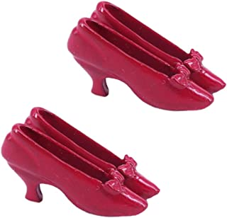 1 Pair 1:12 Dollhouse Miniature Accessories Red High-heeled Shoes Princess S/_ch