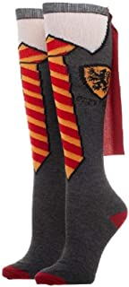 Gryffindor Costume School Uniform Knee High Cape Socks Sock Size: 9-11, Fits Shoe Size: 5-10