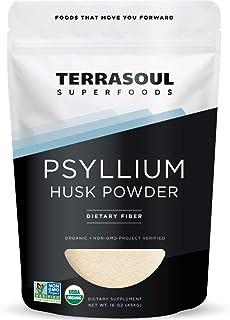Terrasoul Superfoods Organic Psyllium Husk Powder, 1 Lb - Superfine Texture   High Purity   Keto Baking