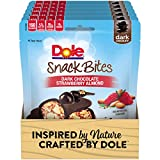 DOLE SNACK BITES Dark Chocolate Strawberry Almond 3.5 Ounce (Pack of 6)