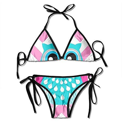 Qinckon Costumi da Bagno, Costumi da Bagno Bikini Ragazza Gufo Carino Affascinanti Costumi da Bagno da Spiaggia