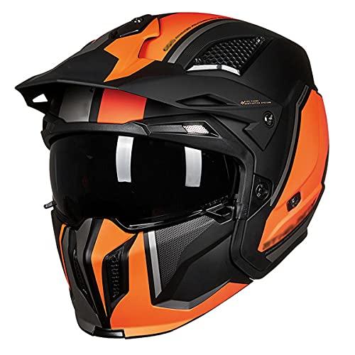 BDTOT Casco de motocross, unisex de cara completa para jóvenes, casco de moto y motocicleta, aprobado por el DOT para motocicleta, Dirt Bike ATV (54 ~ 64 cm