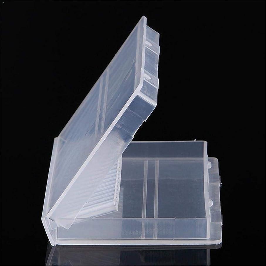 南方の悪性エンターテインメントRuier-tong ネイルドリル 収納ケース ネイルビッドセット 研削ネイル用 透明 プラスチック 20穴 ネイル研削ヘッド収納ボックス