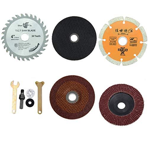 Batreetek ロータリー ブレード ディスクグラインダー 金属 切削 切断砥石 研磨ディスク ルーター工具 レンチ 金属 木工用 (8個セット)