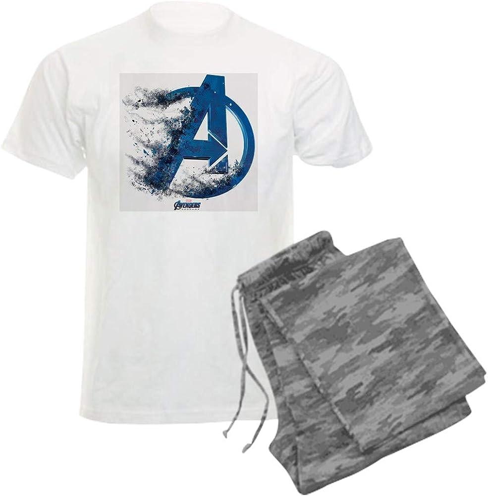 CafePress Spring new work one after another Blue Black Avengers Endgame OFFicial mail order Set Pajama L