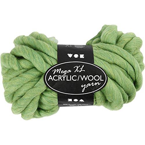 Fil épais d'acrylique/laine, L: 15 m, vert citron, méga, 300g
