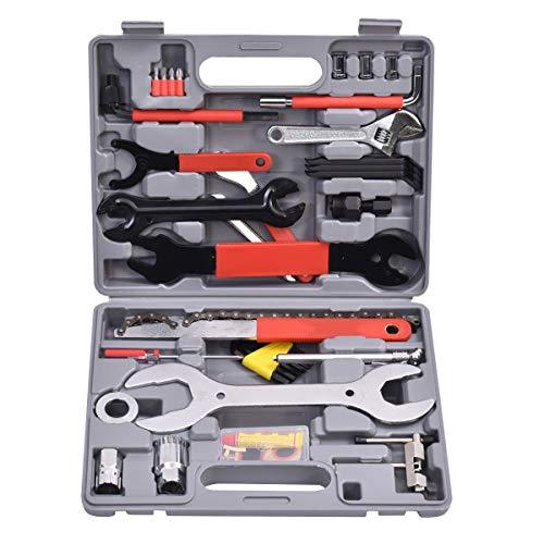 DREAMADE 44 TLG. Fahrradwerkzeug Set, Fahrrad Reparaturset, Multifunktionswerkzeug Set für Fahrrad, Fahrrad Werkzeugkoffer Werkzeugkasten