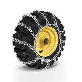 Holzinger Catene da neve per pneumatici gomme ruote da spazzaneve 11 CV (HSF-110) e modelli simili - pneumatici 15 x 6.50-7 N.H.S. - compatibili con altri spazzaneve