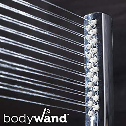 Waterpik High Pressure Hand Held Wand and Rain Shower Head Combo with Hose-BodyWand Spa System, Chrome
