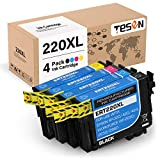 TESEN Remanufactured 220XL Ink Cartridge Replacement for Epson 220 220XL T220XL Use with Workforce WF-2760 WF-2750 WF-2630 WF-2650 WF-2660 XP-320 XP-424 XP-420 4 Pack