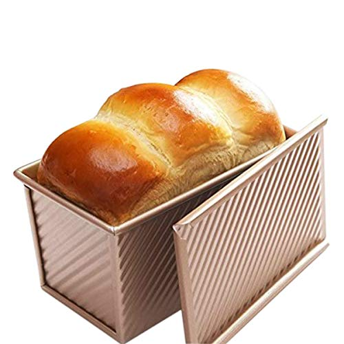 J&N Non Stick Aluminum Steel Baking Bread/Loaf Pan with Lid Cover. 8.5 x 4.8 x 4.5 inc