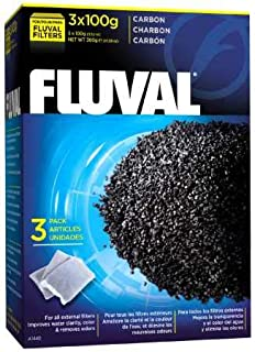 Fluval Carbon,100-gram Nylon Bags , Pack of 3