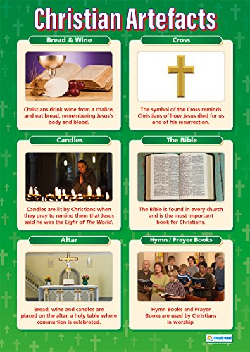 Christian Artefacts |Religious Education Educational Wall Chart/Poster in high gloss paper (A1 840mm x 584mm)