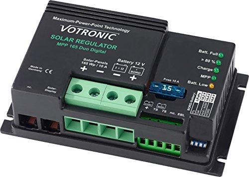 Votronic MPP 165 Duo Digital (Marine Version) 10A MPPT Dual Solarladeregler 12V