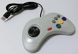 PC サターン6ボタン型USBコントローラー(ホワイト)(ノーブランド品)