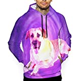 Starry Sky Chinook Dogs 3D Print Men's Fashion Pullover Hoodie Sweatshirts Hooded Sportswear Black
