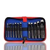 Juego de herramientas para artesanía en cuero, perforadora de cuero, perforadora redonda de acero para artesanía en cuero, perforadora hueca, juntas de metal, herramientas de cuero de goma, 3-19 mm