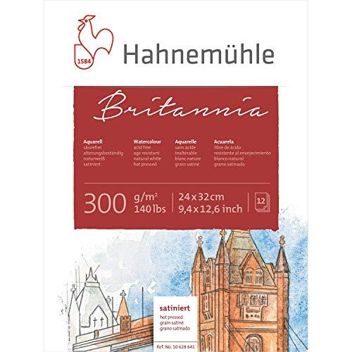 Hahnemuhle Britannia 300gsm Block - 24 x 32cm Hot Pressed