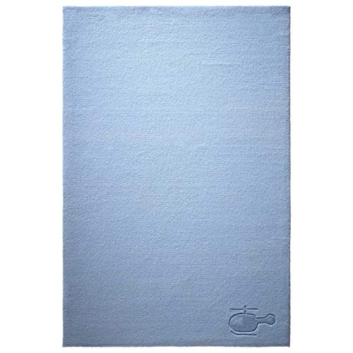 bellybutton Kapitän Moderner Markenteppich, Neuseelandwolle, Blau, 100 x 60 x 1 cm