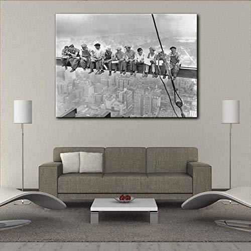 kdasfh Retro New York Workers poster murale immagine opere d'art su Tela pittura art HD Stampato Cornice in Legno placca per soggiorno Ardamento No Frame 50x70kdasfh