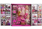 TOYSM Girl's Fashion Doll with Dresses Makeup and Doll Accessories, Style Wardrobe Doll Set for Girls, Doll Toy for Kids