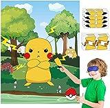 BeYumi Pikachu Poster,Kinder-Party-Aufkleber-Spiel, Pin der
