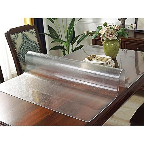Tovaglia opaca trasparente, tappetino di protezione in morbida fibra di vetro, tappetino da tavolo in plastica antiscivolo, per mobili, cucina, ufficio/A / 60×80cm