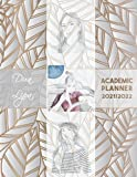 Dua Lipa Academic Planner 2021/2022: DATED Calendar   Monthly Journal   Organizer For Study   Improving Personal Efficency Agenda   Silver Leaves