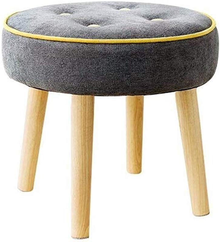 YXLchairs Footstool And Pouffes Foot Stools Ottoman Pouffe Chair Stool Fabric Cover Creative Stool Color A