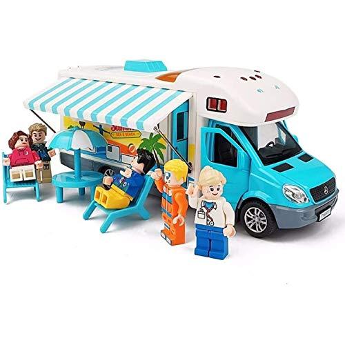 ZHANG Autobús De Aleación Simulación Viaje RV Modelo De Coche De Aleación Coche De Juguete para Niños Canto Poema Antiguo Modelo De Coche De Rally De Narración De Cuentos,Blue